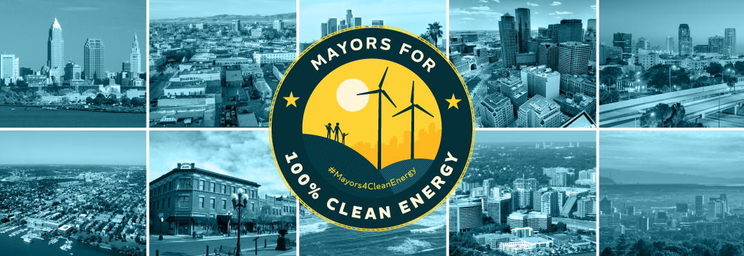 Mayors For 100 Percent Clean Energy Header