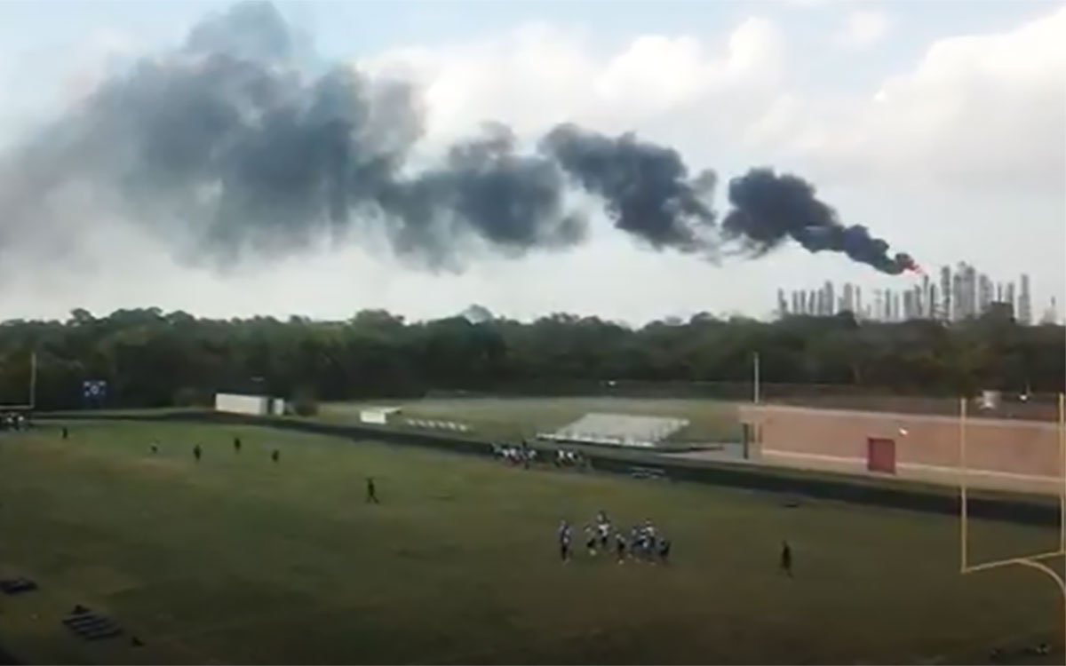 Flare from a chemical factory in Houston