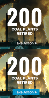 Sierra Club Beyond Coal celebrates 200 + coal plants retired.