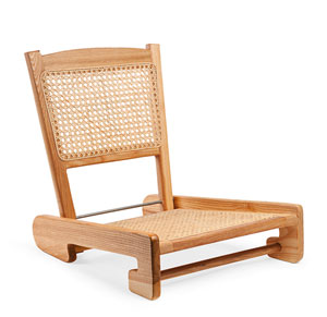 Folding Cane Canoe Chair
