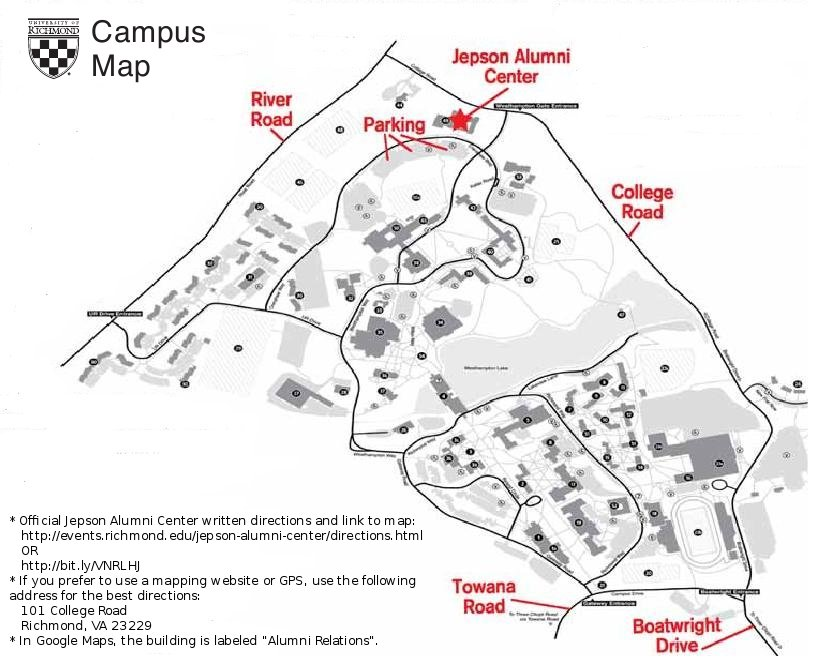 Jepson Alumni Center Map