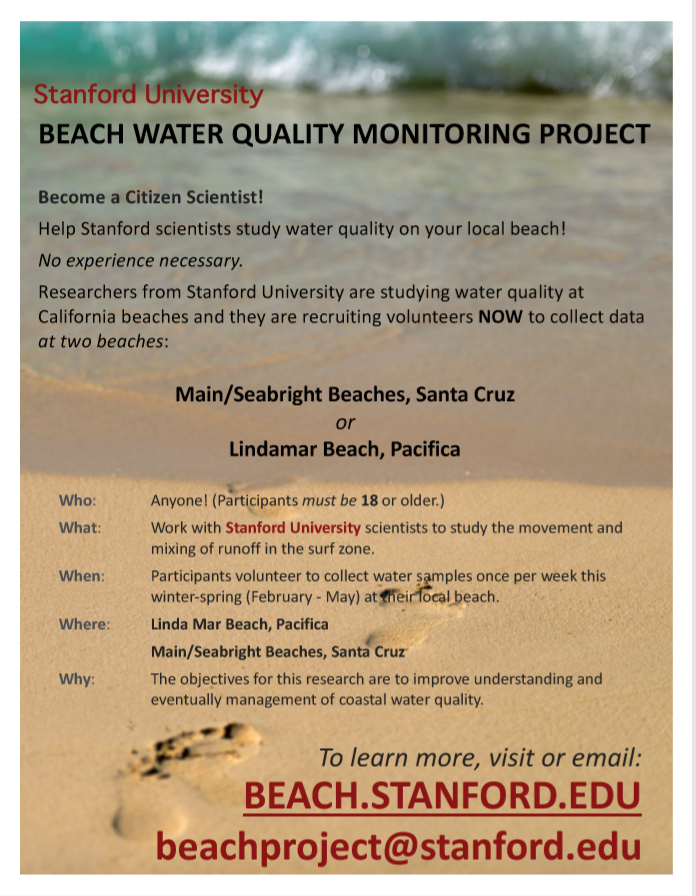 California Beaches And They Are Recruiting Volunteers To Collect Data At Two Main Seabright In Santa Cruz Linda Mar Pacifica