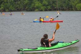 Boys and Girls Club enjoying Kayaking