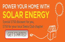 Go Solar with Sierra Club logo