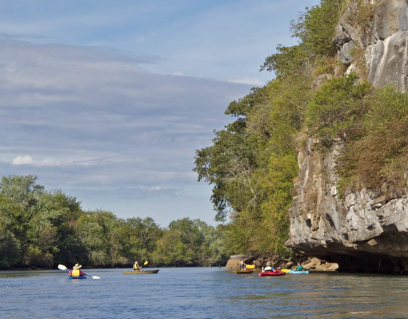 paddlers on French Broad