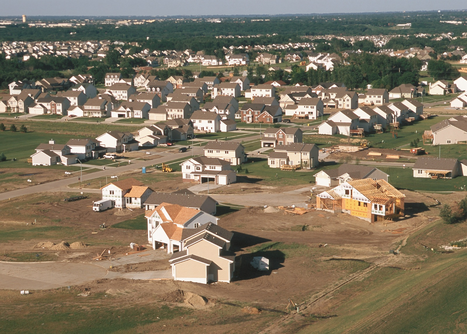 Home construction.  Photo credit: USDA NRCS, Lynn Betts