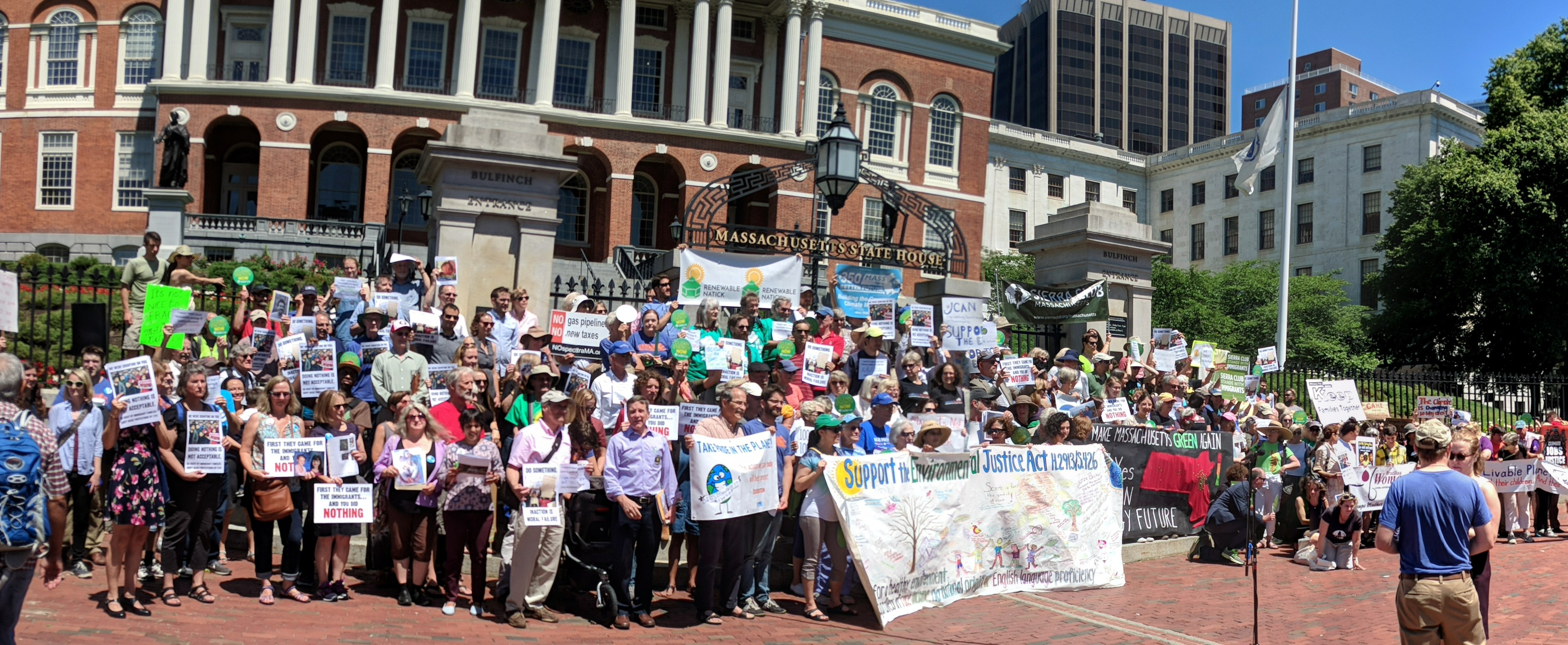 28b131ed7e Supporters rally for clean energy legilation at the MA State House