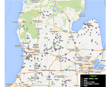 Map Of Cafos In Us CAFO Map | Sierra Club