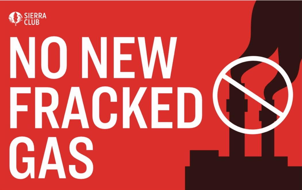 No New Fracked Gas poster