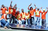 Young solar workers