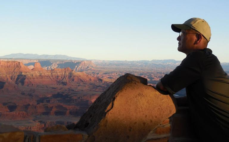 Dan Chu at Canyonlands National Park