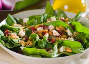 Spinach Salad with Goat Cheese and Cranberries