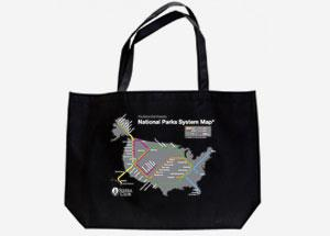 National Parks System Map Tote Bag