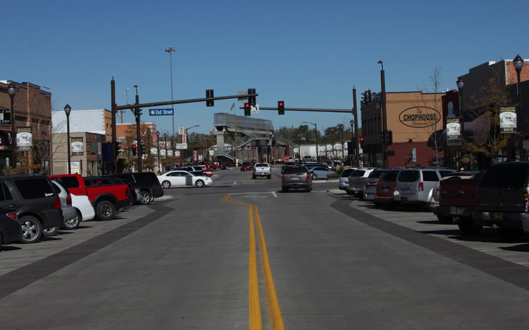 Intersection in Gillette, Wyoming.