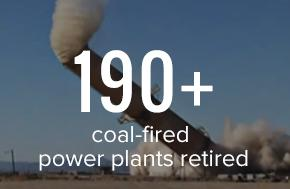 190 plus coal plants retired! Learn more about moving beyond coal.