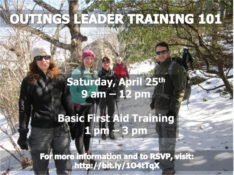 Outings Leader Training 101 in Cobb County