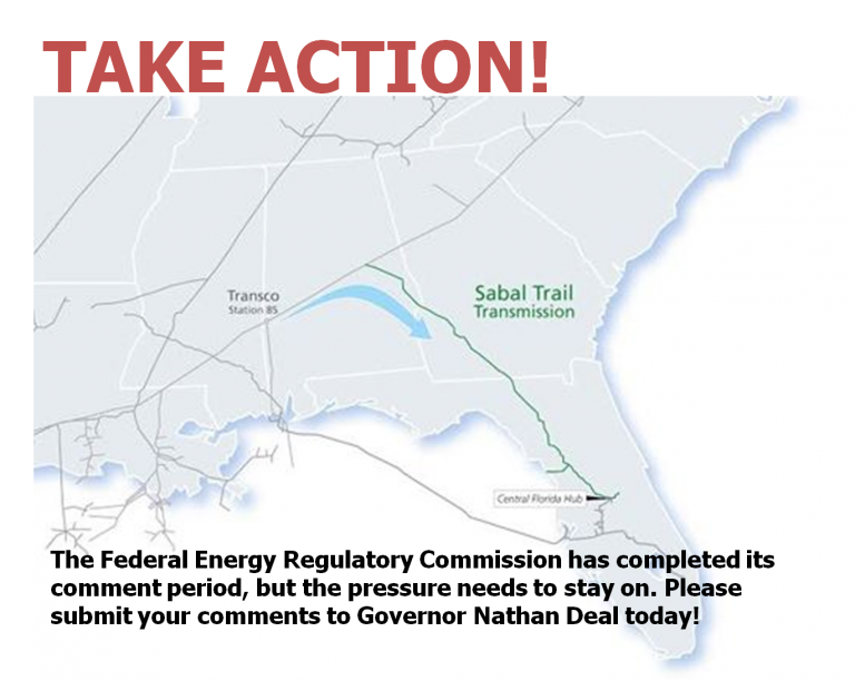 Submit Comments on the Sabal Trail Pipeline Compressor Station