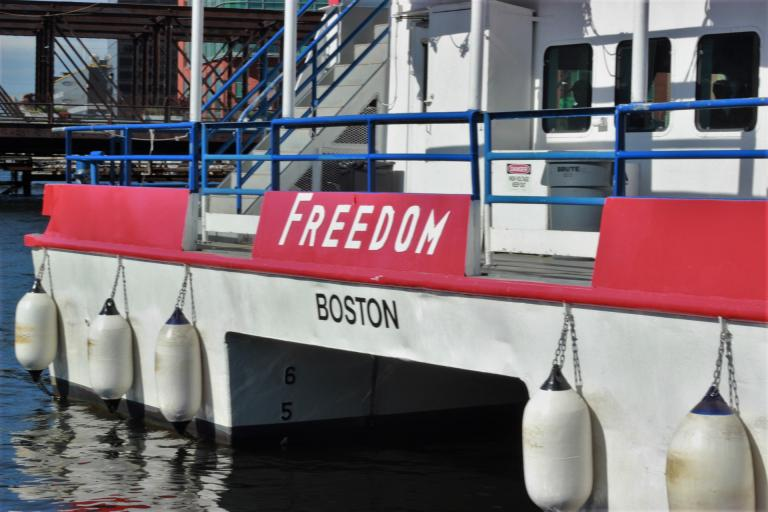 The Freedom cruise ship, out of Boston