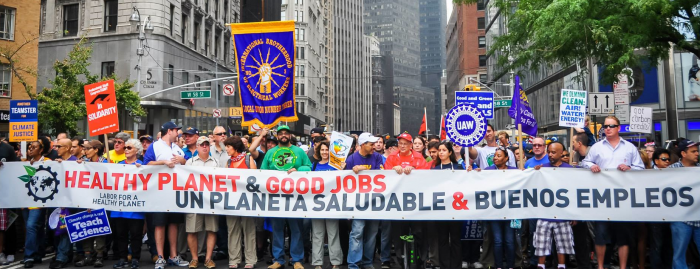 Photo by Brooke Anderson. Unions March for Climate Justice