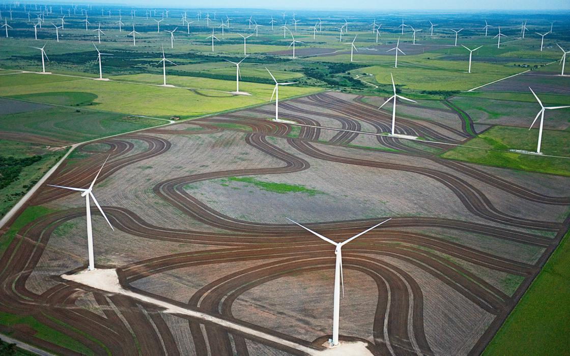 The Horse Hollow Wind Energy Center, with 430 turbines spread over 47,000 acres in Nolan and Taylor Counties, is the third-largest wind farm in the world.