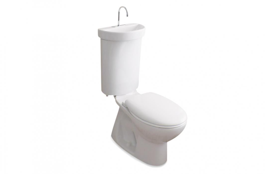 Part Toilet, Part Sink, The Caroma Profile Smart 305 Uses The Soapy Water  From