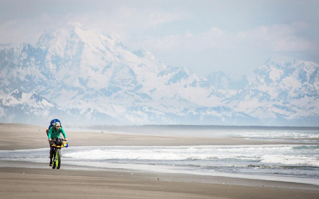 In the shadow of Mt. Fairweather, the coast south of Yakutat is among the world's most scenic bike paths.