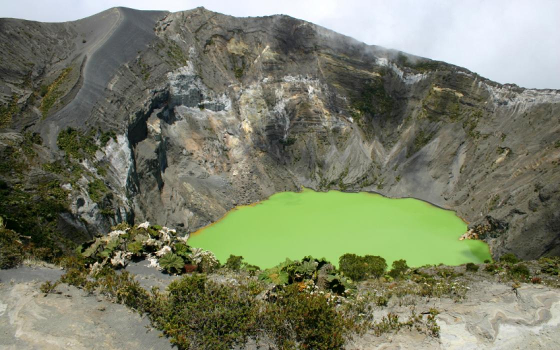 Green Crater Lake, Costa Rica