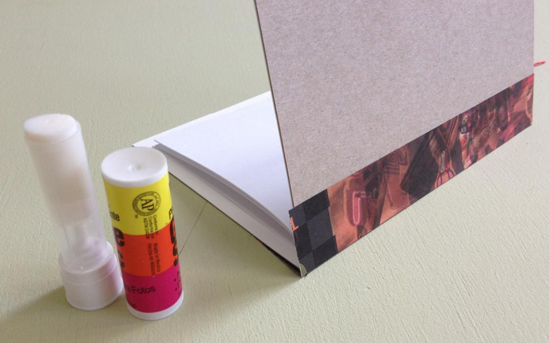 Repurpose: Cereal box to notebook