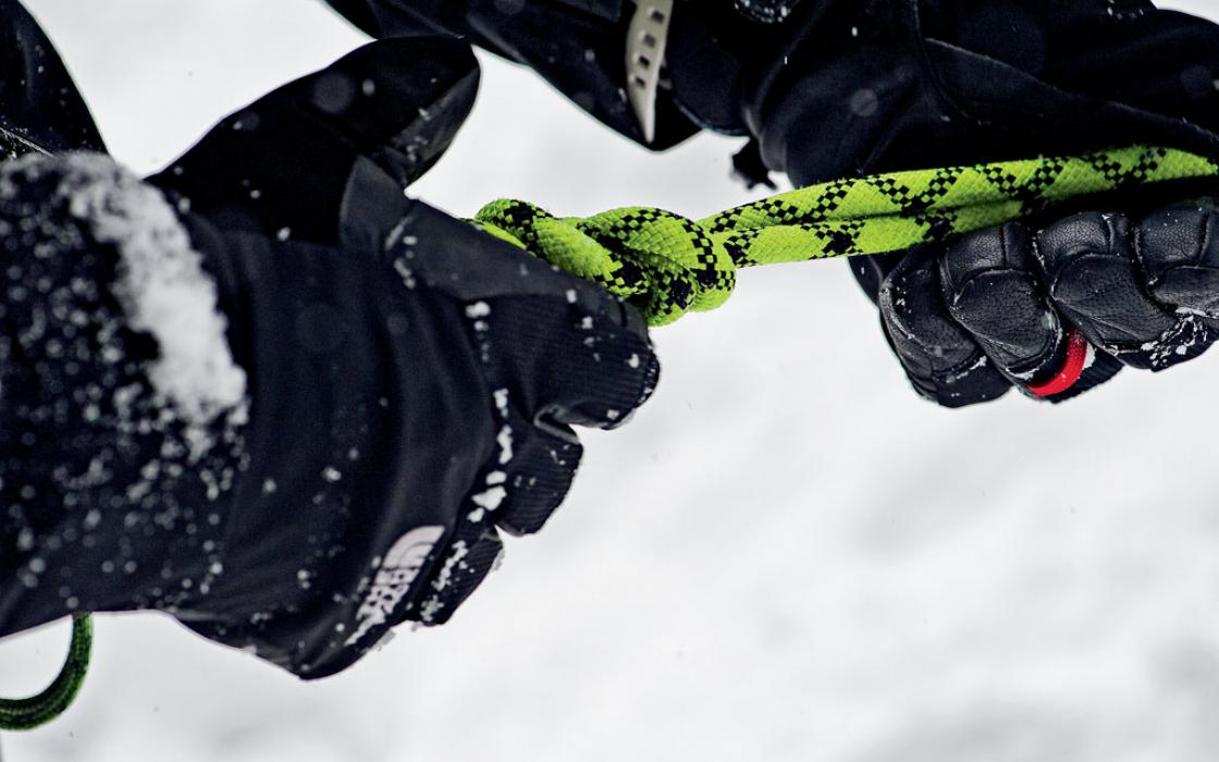 Much like soldiers, climbers rely on each other for success and safety.