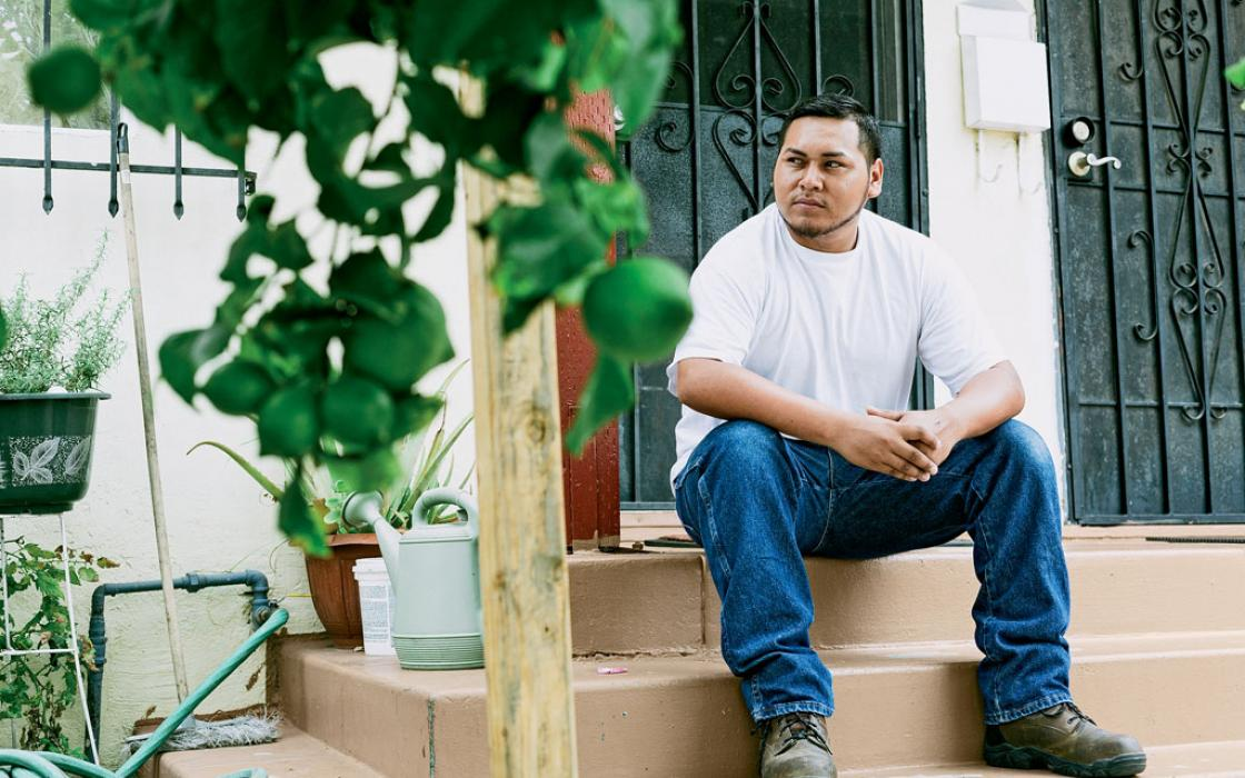Abraham Hernandez's perseverance won him a shot at a skilled union job in the growing green-energy economy in Los Angeles. | Photo by Annie Tritt