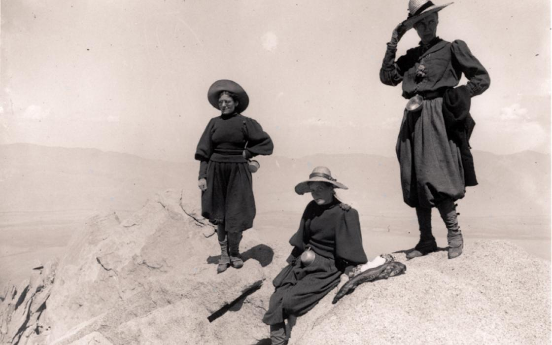 Group on University Peak (Mt. Whitney), 1896. By Joseph N. LeConte.