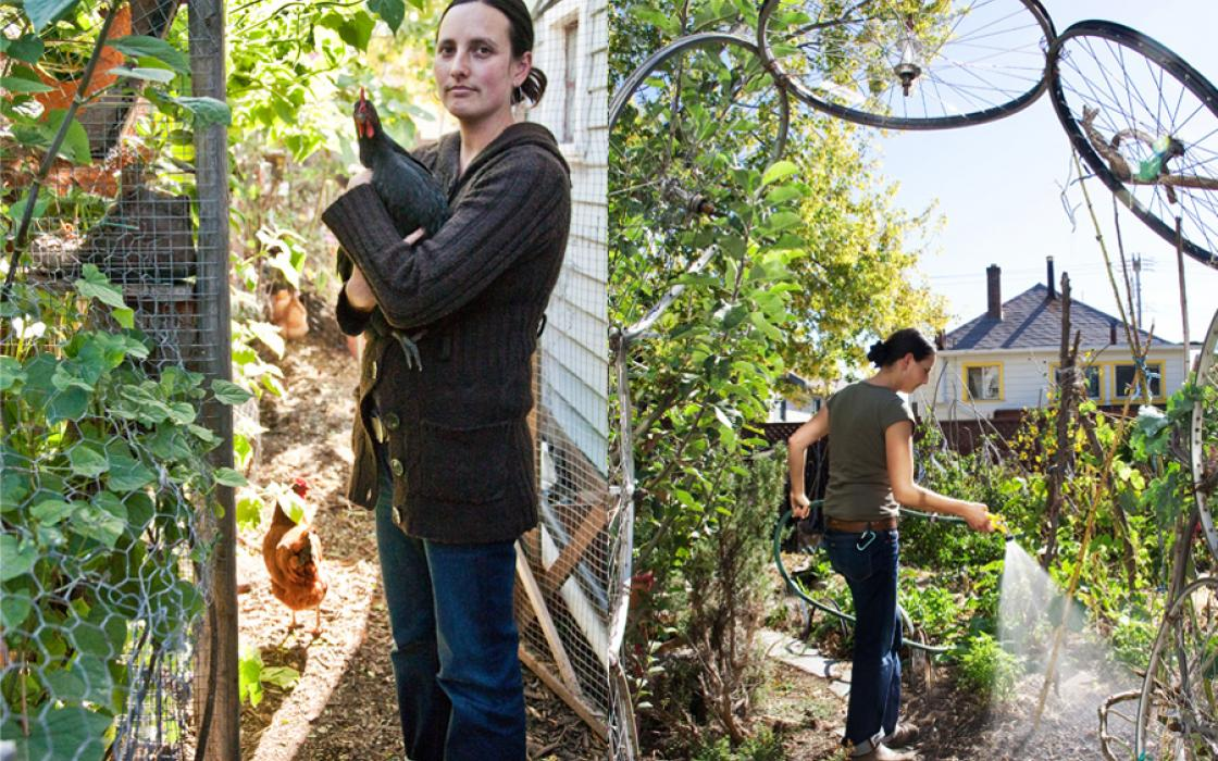Laura Allen successfully fought Oakland's policy forbidding permits for graywater systems, which utilize water from baths, sinks, and washing machines for garden irrigation.