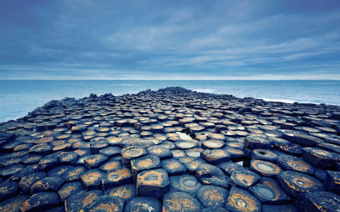 Northern Ireland's only UNESCO World Heritage Site consists of some 40,000 hexagonal basalt columns, which jut from the North Channel along the edge of the Antrim Plateau.