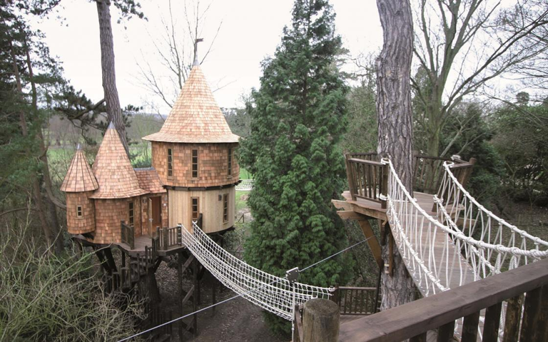 Living the high life, a treehouse by Blue Forest in the United Kingdom.