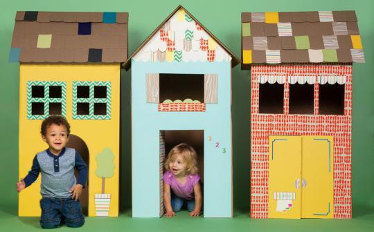 With a little TLC, cardboard boxes can house a whole lot of fun.