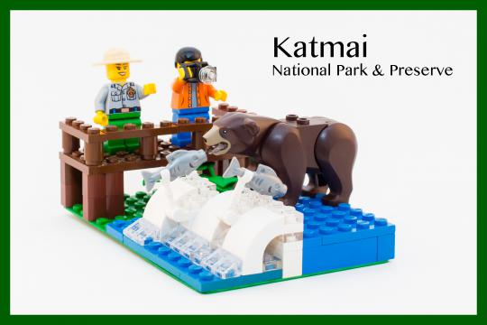 Katmai National Park in Legos