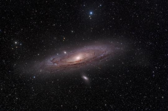 The Andromeda Galaxy is overhead in November.