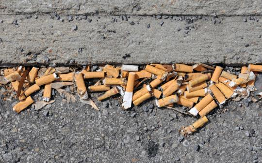 Cigarettes -- the most littered object in the world.
