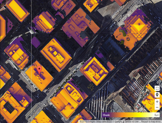 Project Sunroof map of San Francisco building