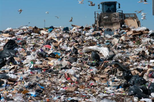 Trash piles up in our world as well as in WALL-E's