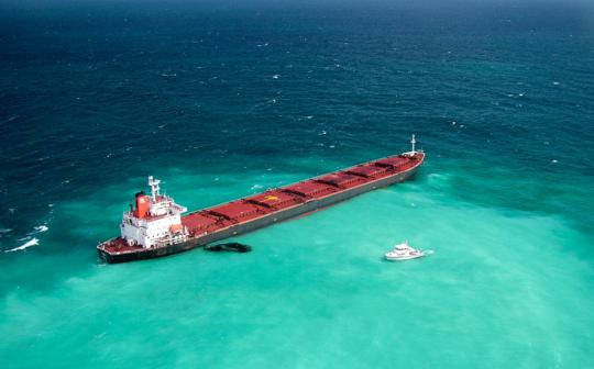 Coal carrier Shen Neng aground on the Great Barrier Reef