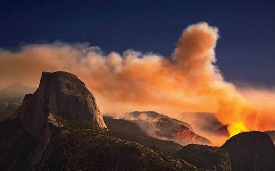 September's Meadow Fire in Yosemite National Park burned nearly 5,000 acres, closed popular hiking trails, and required dozens of people to be evacuated by helicopter from the top of Half Dome (at left).