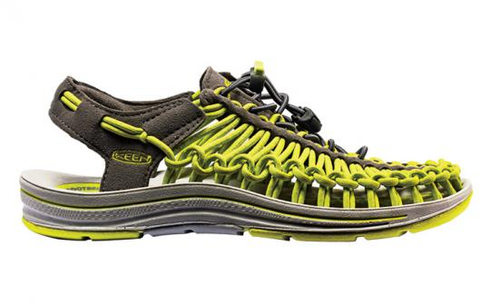 Keen's Uneek shoe is actually a polyester cord sandal.