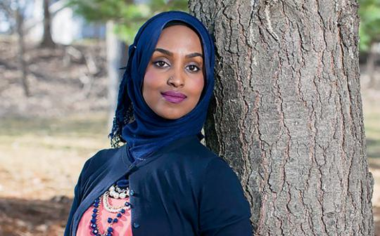 Sierra Club intern and activist Muna Khalif, in Minnesota.