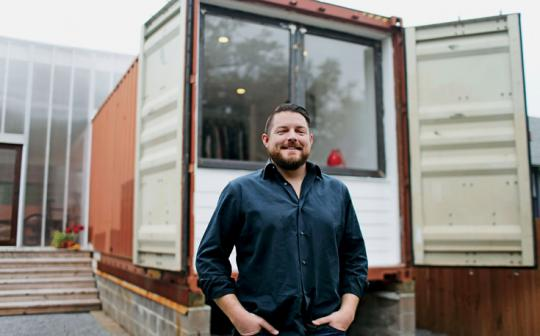 Seth Rodewald-Bates creates a home with two shipping containers.