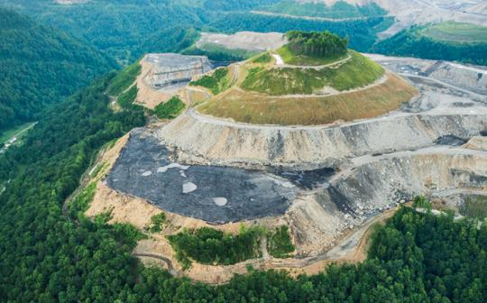 The Sierra Club Environmental Law Program is fighting to end destructive mountaintop-removal mining, like this operation in West Virginia.