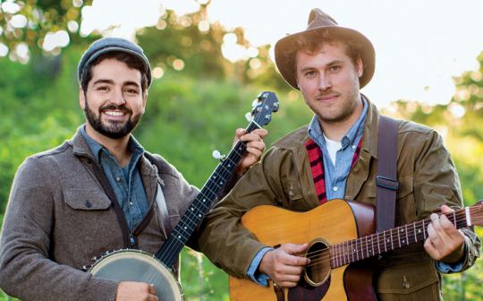 The Okee Dokee Brothers write children's songs while on adventures in nature.