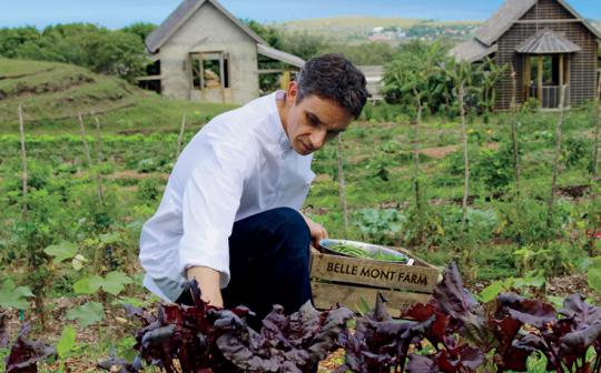 The fare at Belle Mont Farm at Kittitian Hill, St. Kitts, is mostly local and organic.