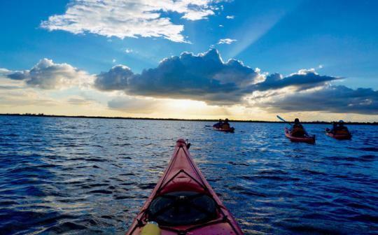 Kimberley Lovato kayaks the Bahia de Cochinos (Bay of Pigs) in post-cold war Cuba.