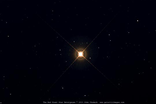 The red supergiant star Betelgeuse in Orion
